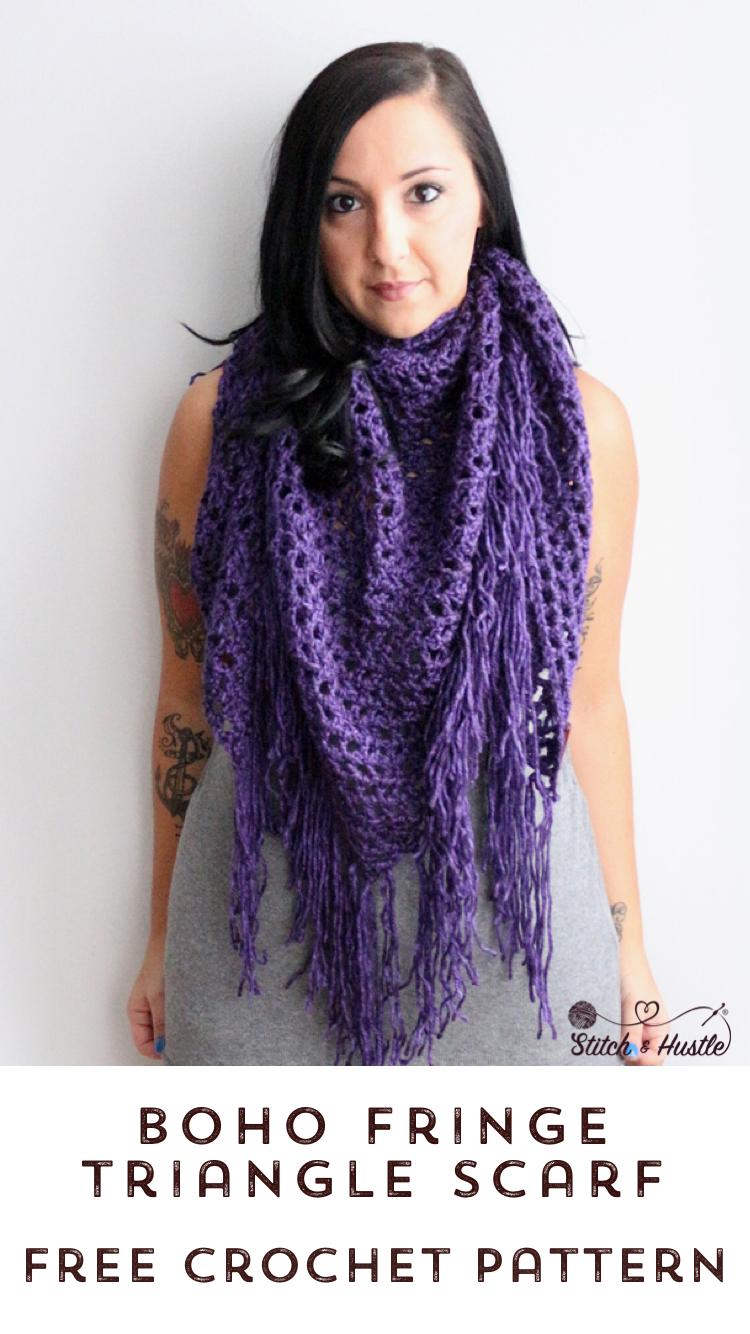 boho fringe shawl wrap crochet pattern 10