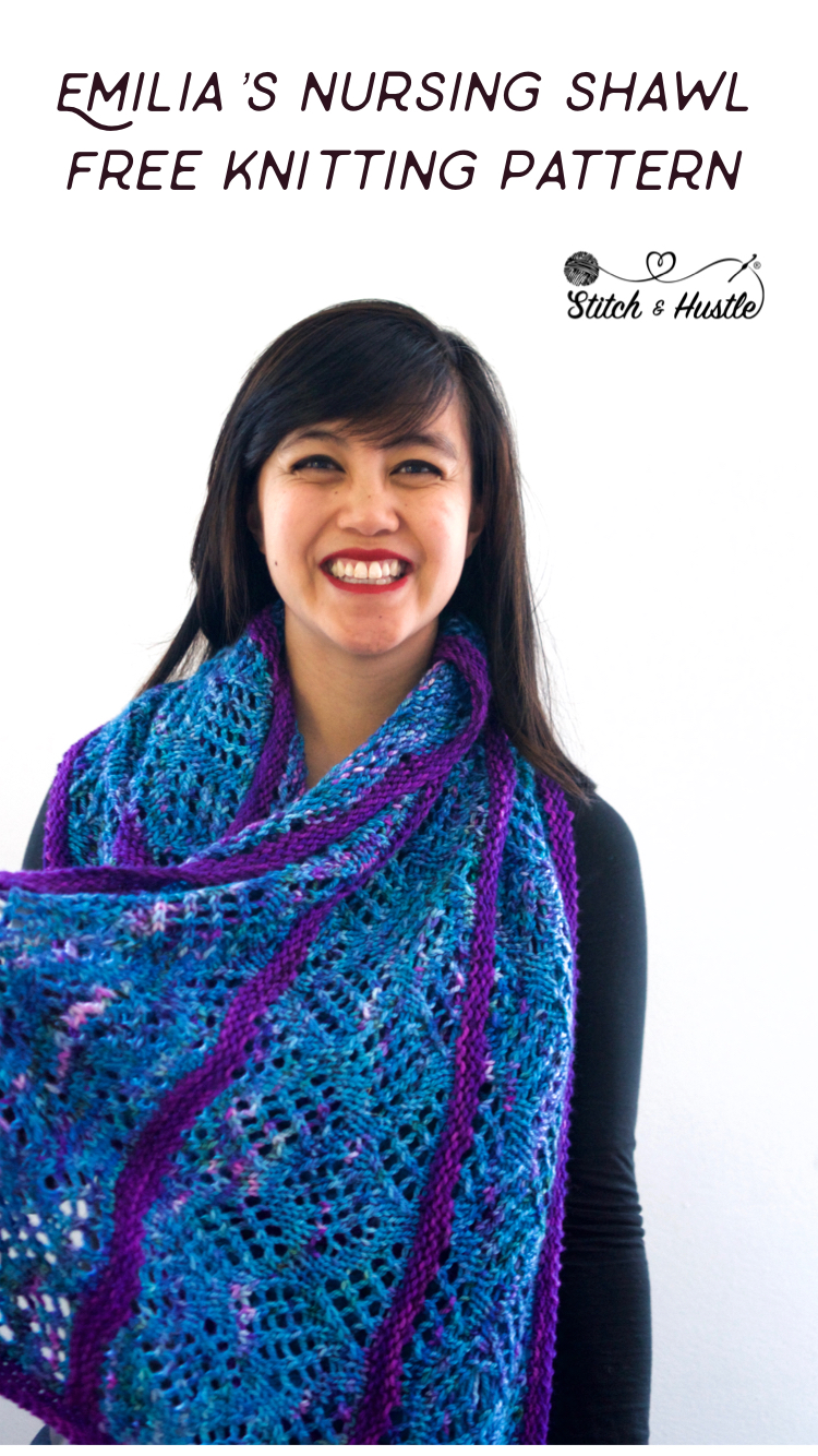 Oliphant Kat Nursing Shawl Free Knitting Pattern Stitch Hustle