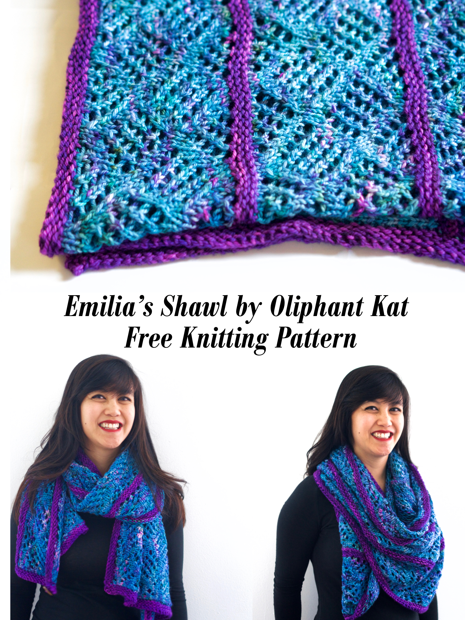 Oliphant Kat Nursing Shawl Free Knitting Pattern — Stitch & Hustle