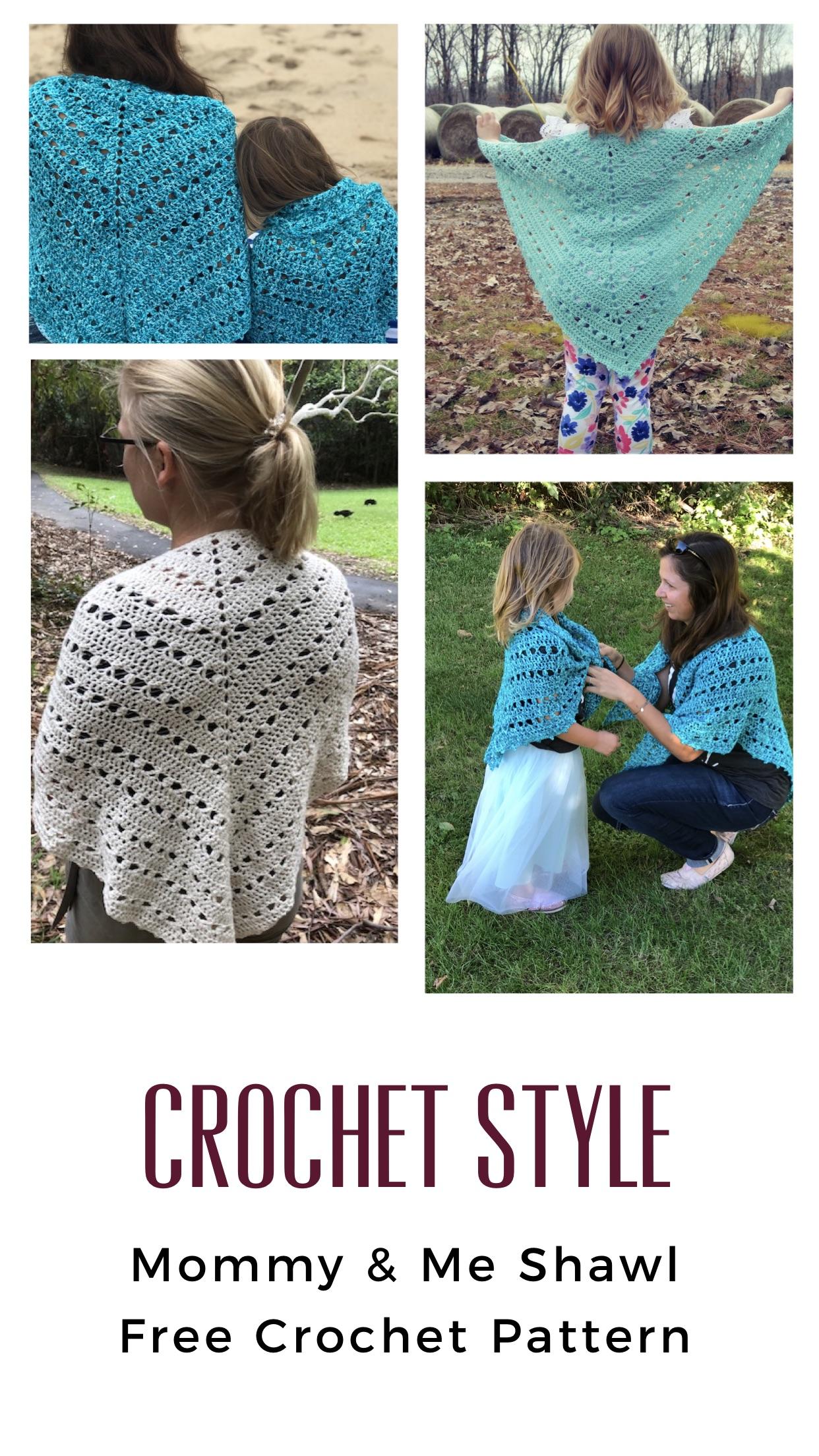 Reflections Shawl Mommy & Me Free Crochet Pattern — Stitch & Hustle