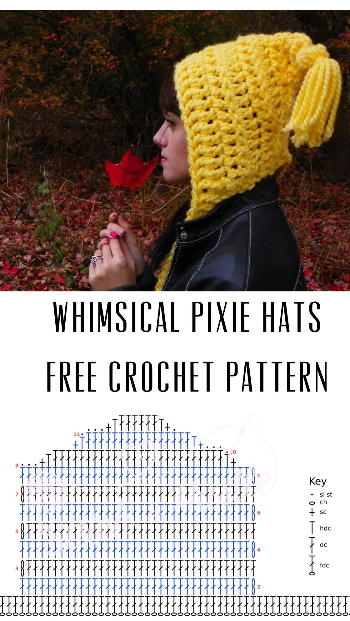 Get Your Whimsy On Free Pixie Hat Crochet Pattern Stitch Hustle