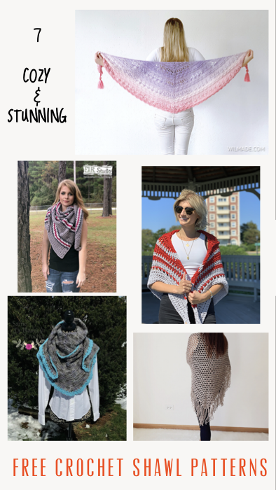 7 Cozy and Stunning Free Crochet Shawl Patterns