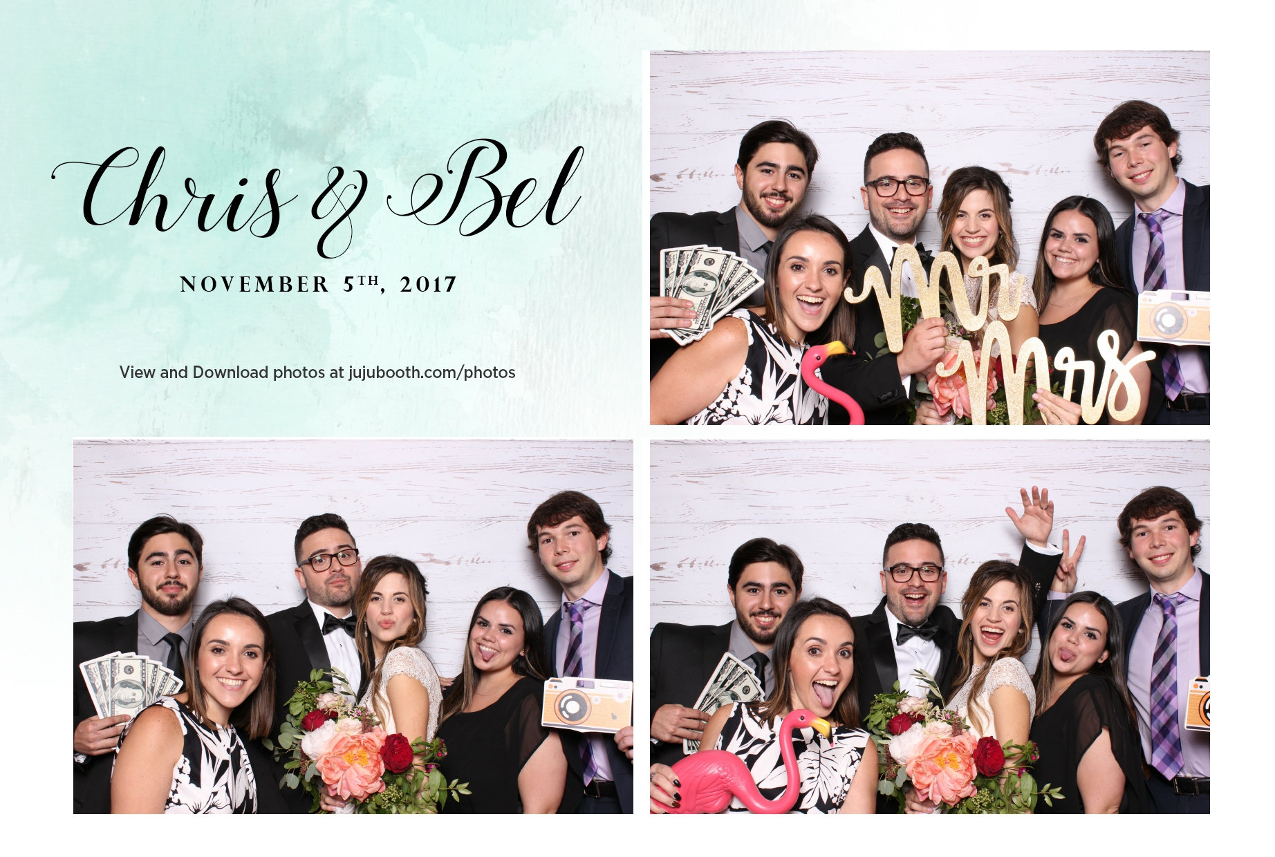 Miami Beach Woman's Club Photo Booth template for a wedding