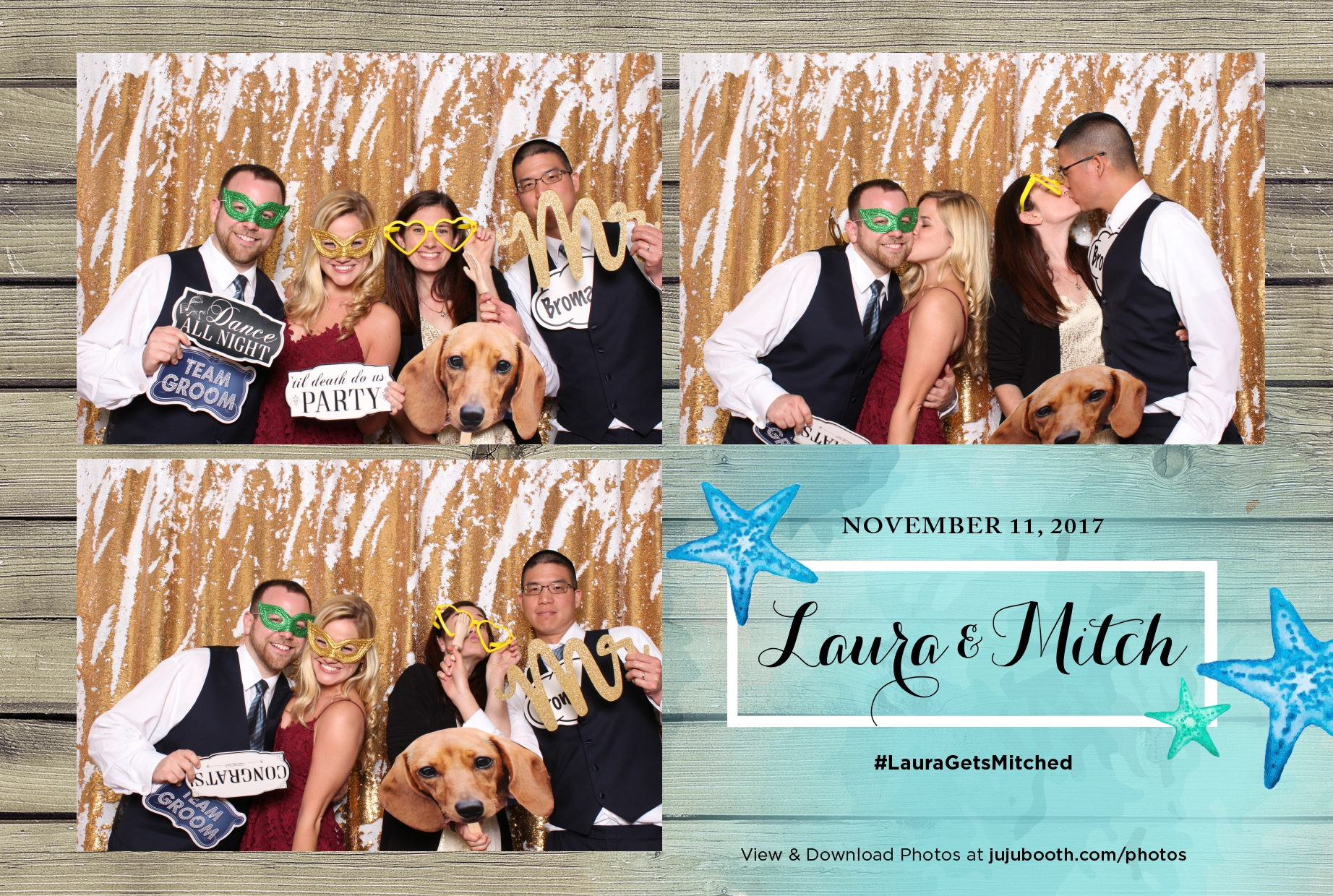 Photo Booth at Margaritaville, Hollywood Florida with mermaid sequin backdrop and ocean theme