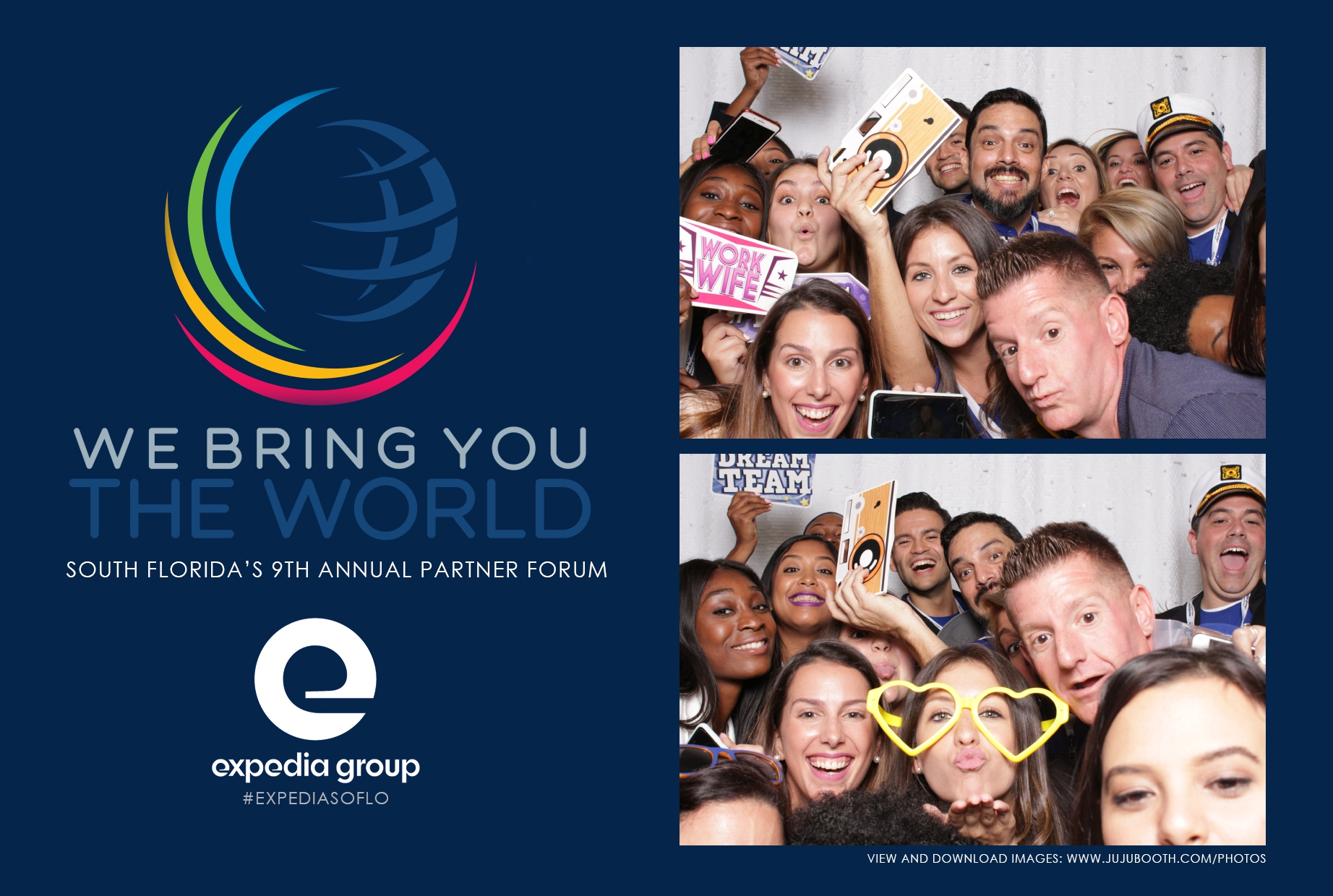 Expedia-photobooth-Miami-corporate-event
