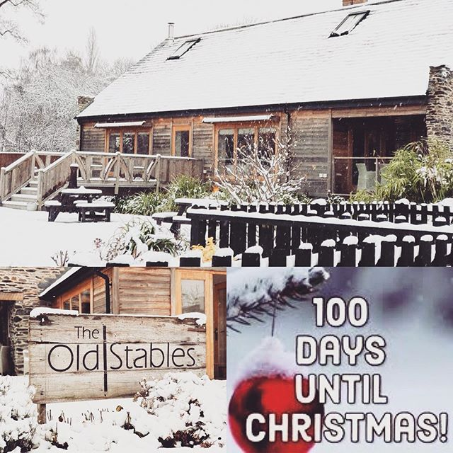 The Old Stables is so beautiful in the winter! It's an amazing venue for a winter wedding or a Christmas party! #winterwedding #christmasparty #weddingvenue #100daystogo #christmasiscoming