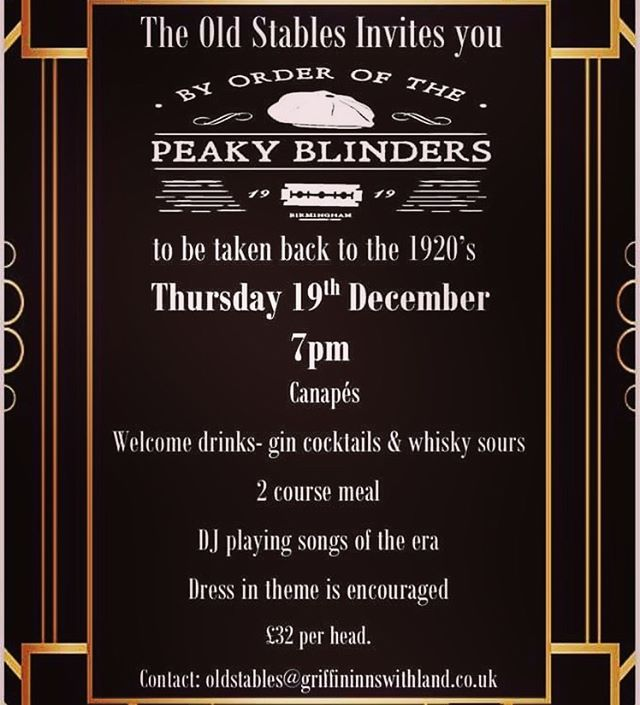 By order of the Peaky Blinders!! Come and join us for a fantastic party! #peakyblinders #christmasparty #party