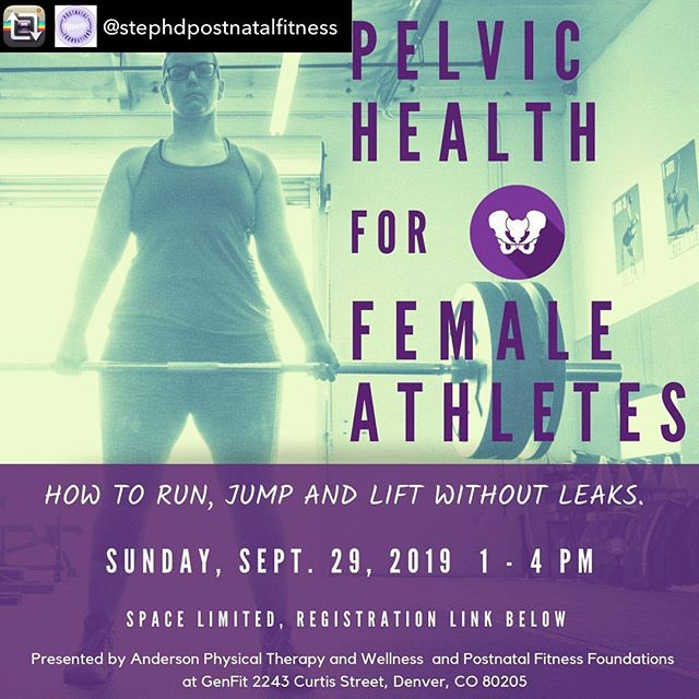 Hey Denver! If you have a pelvic floor or are a trainer that works with people with pelvic floors, this one is for you! (Psst, that means literally everyone)