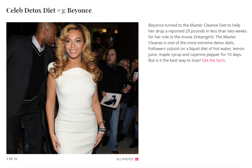 Celebs That Detox - So many celebrities are into detoxing and it's benefits. Check out this interesting article from shape