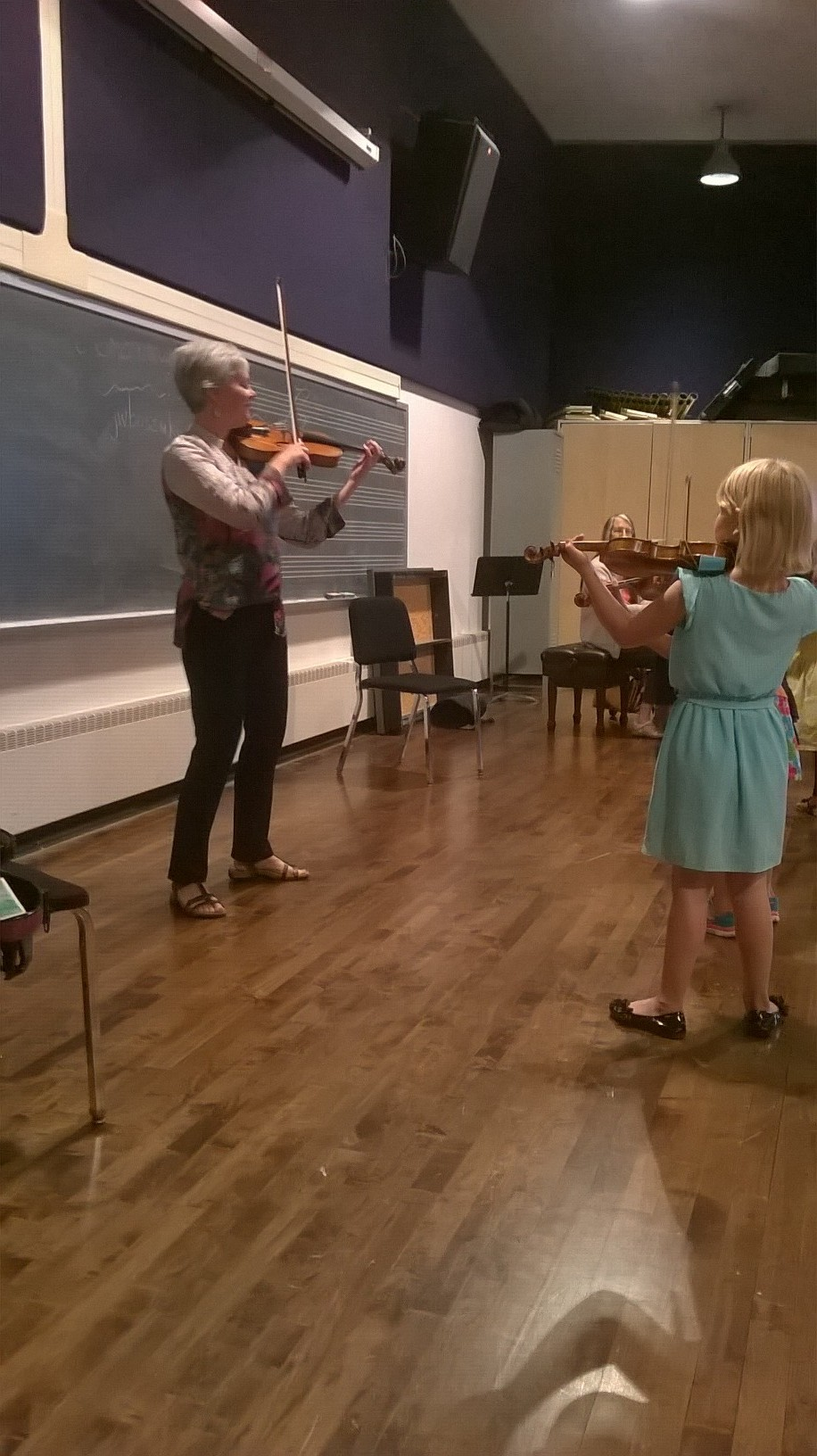 violin class with Carrie