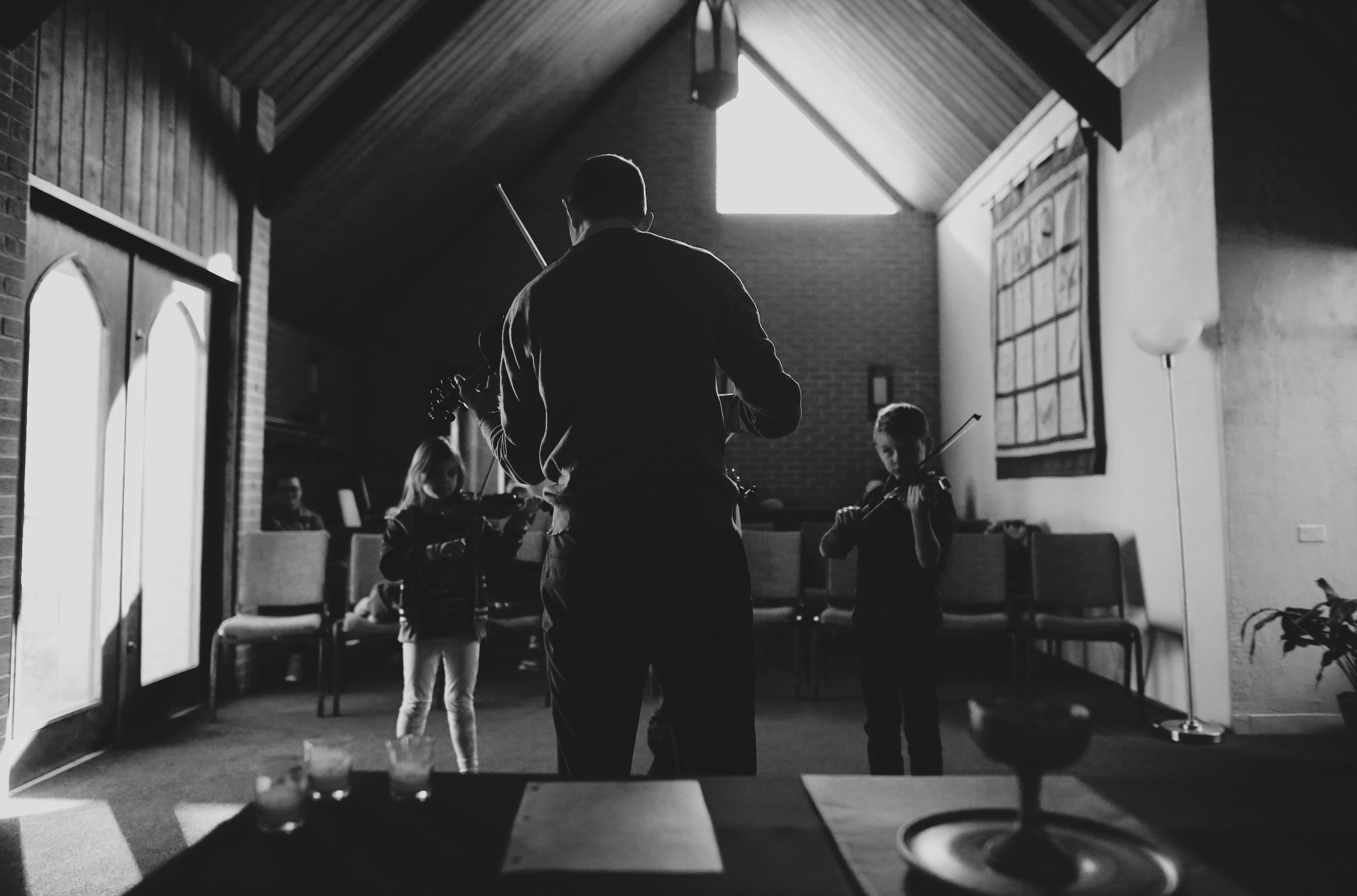 violin class at Morton Grove Community Church