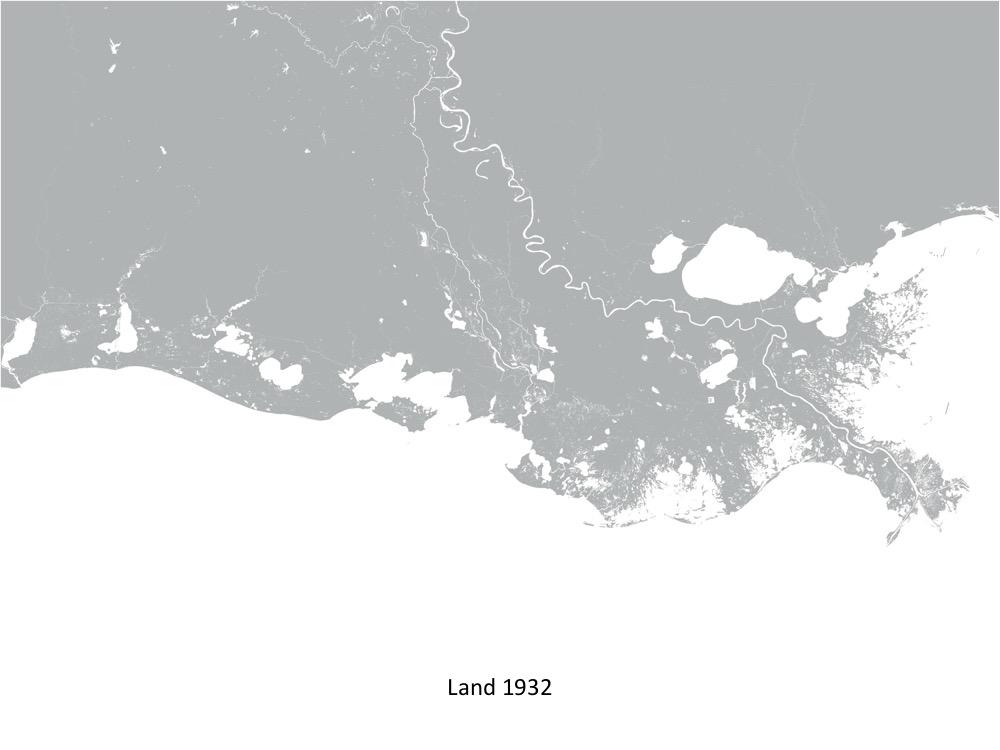 CPRA Land Change Map 1932