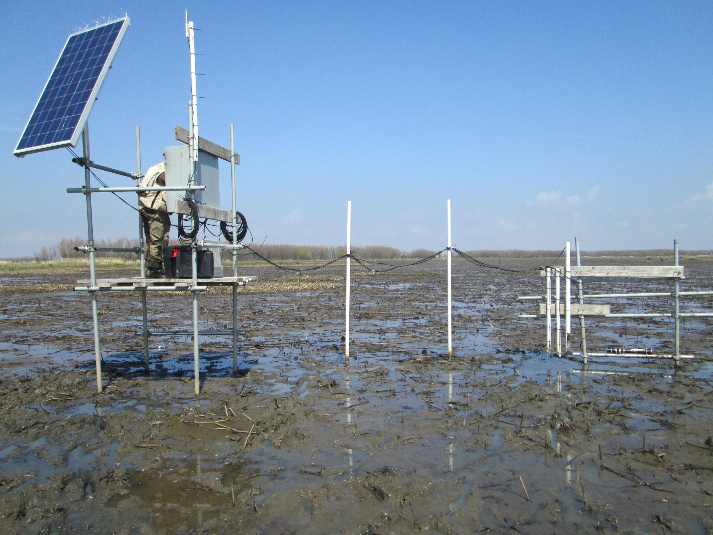 Observation platform with instruments