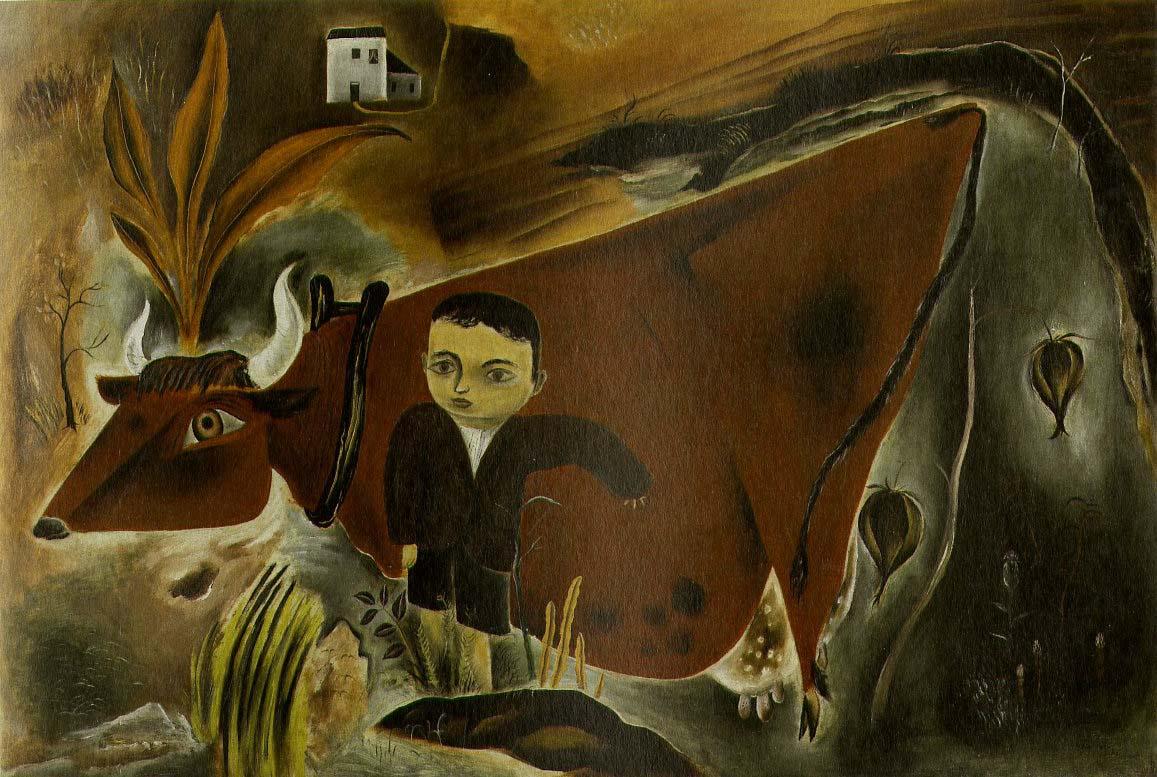 Litte Joe with Cow, 1923