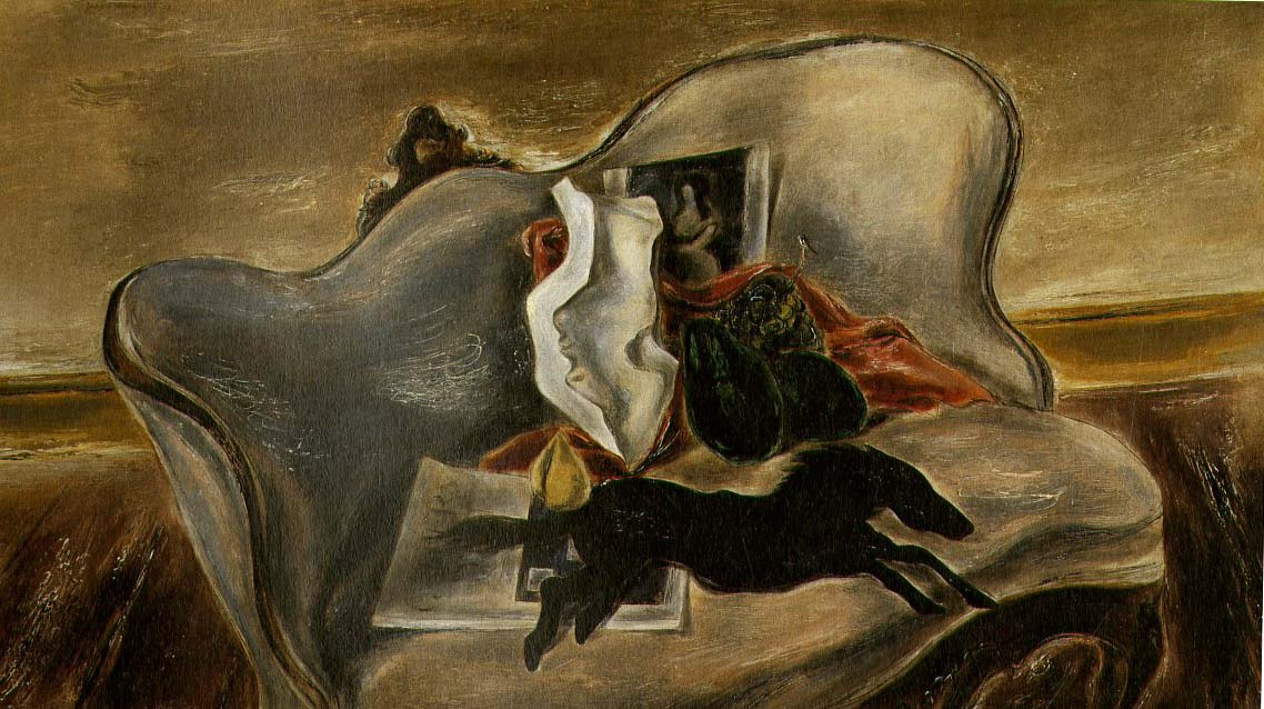 Weathervane & Objects on a Sofa, 1933