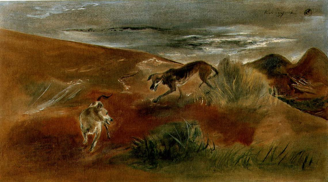 Landscape with 2 Dogs, 1945