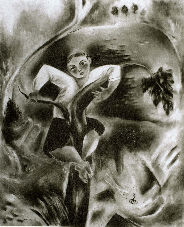 Boy Frightened by Snake, 1922
