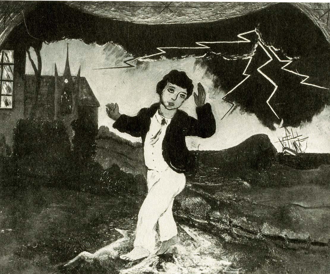 Boy Frightened by Lightening, 1923