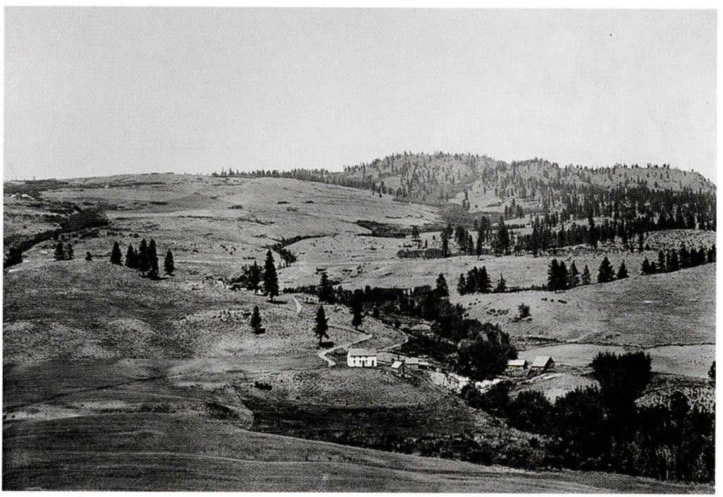 Landscape of an Okanogan homestead,  1910