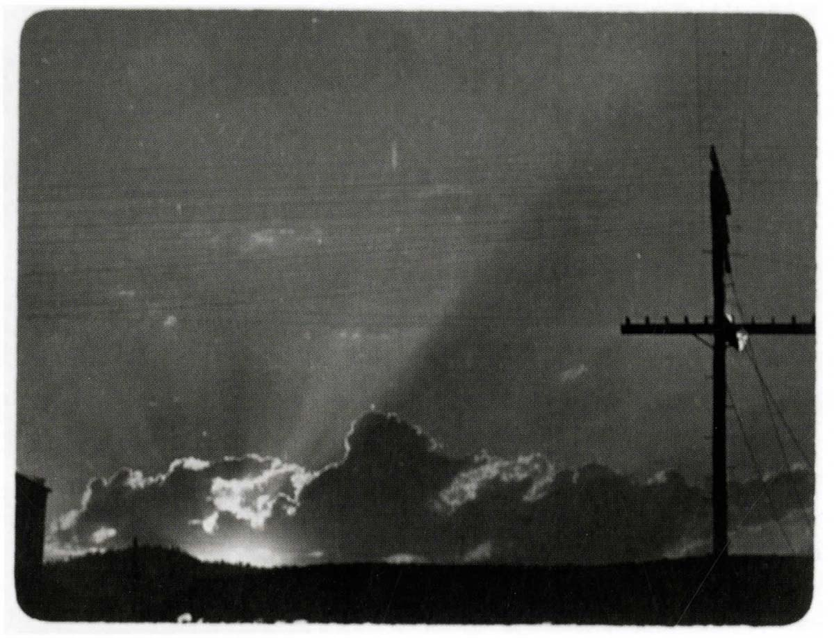 Sunrise & Telephone Pole,  1909