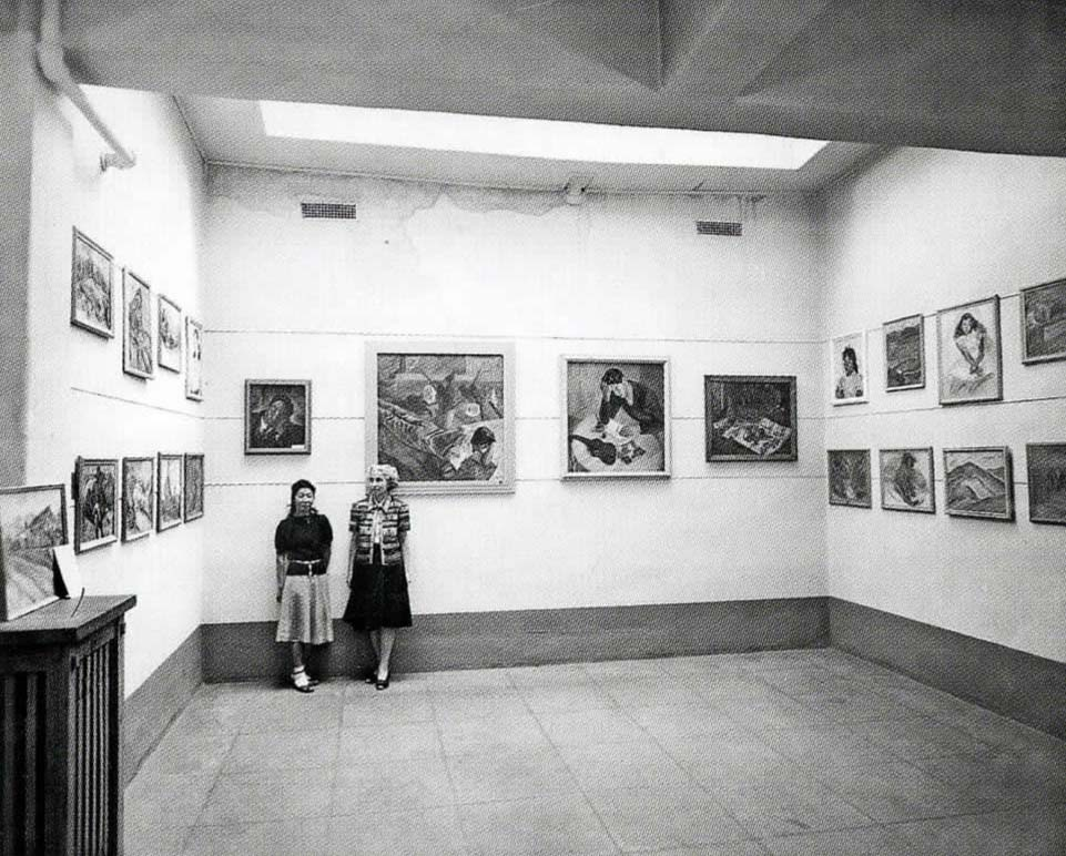 Hayakawa's Solo Exhibition, New Mexico Museum of Art,  1944