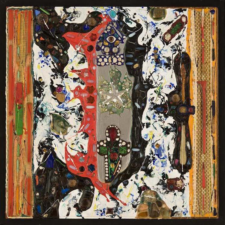 """Untitled,  1959  22 3/4"""" x 22 3/4"""" x 1"""""""