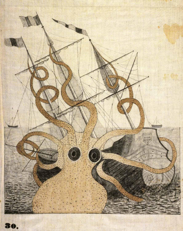 Colossal Octopus [after P. D. deMontfort],  1828-40