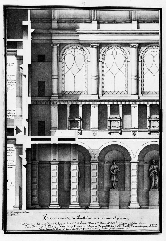 Arcade of pantheon dedicated to the Apostles…