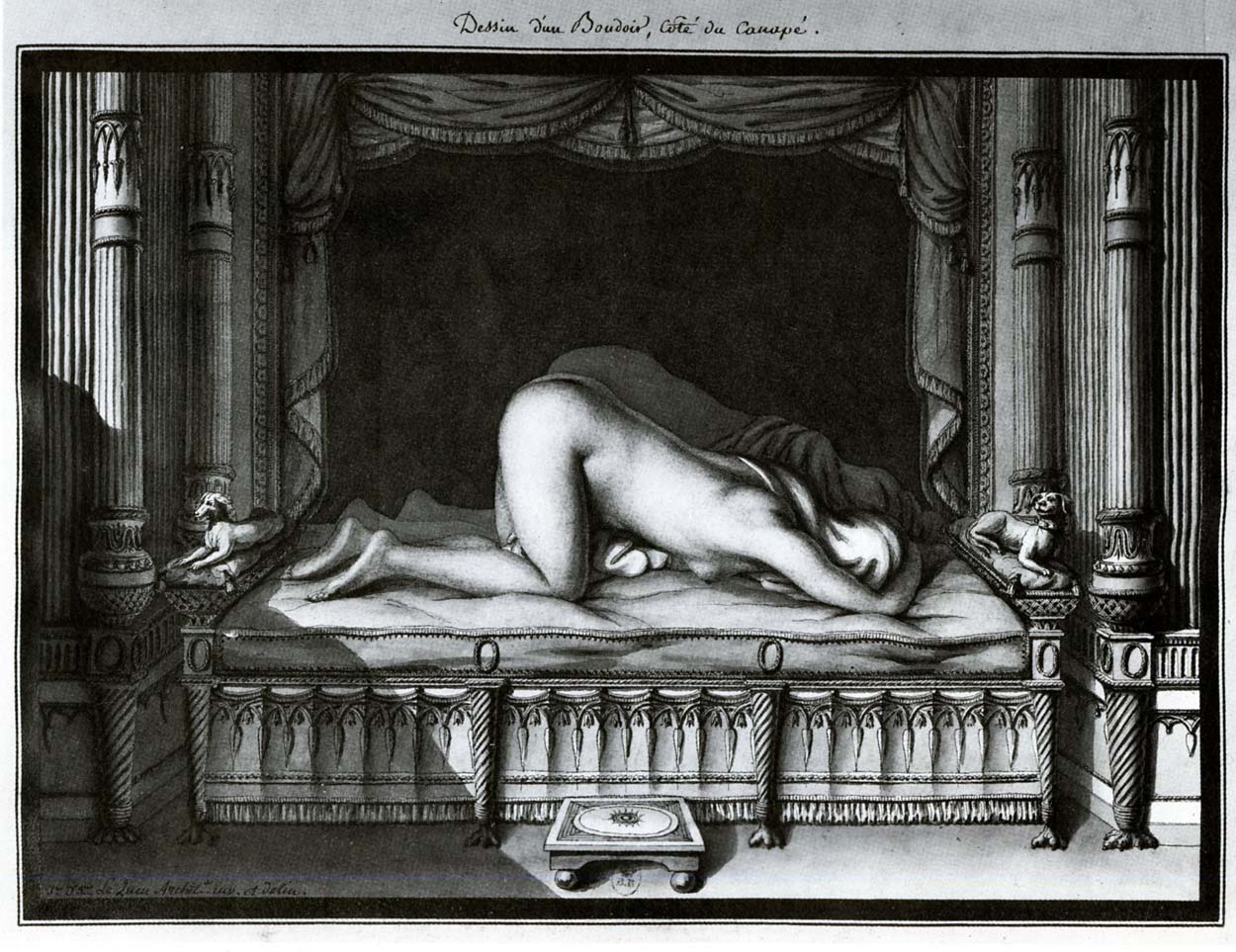 Design of a boudoir, the divan side