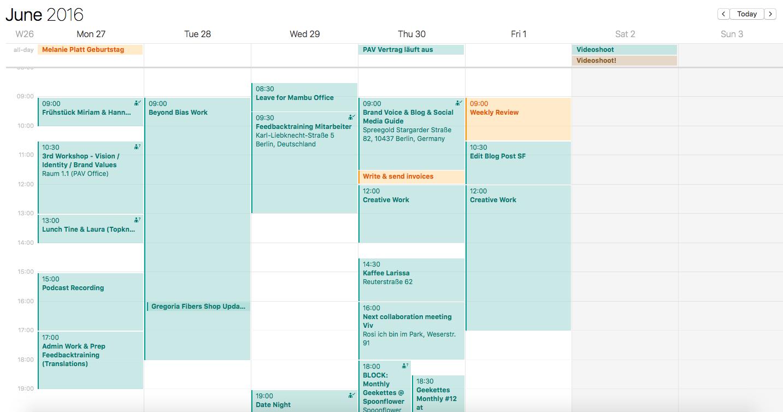 Typical work week - well, too many meetings for my taste...