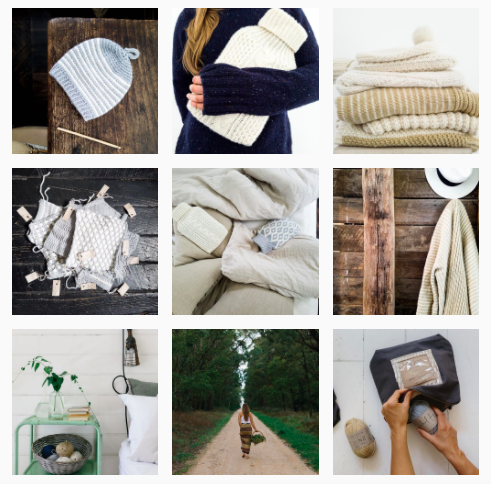 Beautiful example of how to use brand imagery together with snap shots! (Pictures by Wool days)