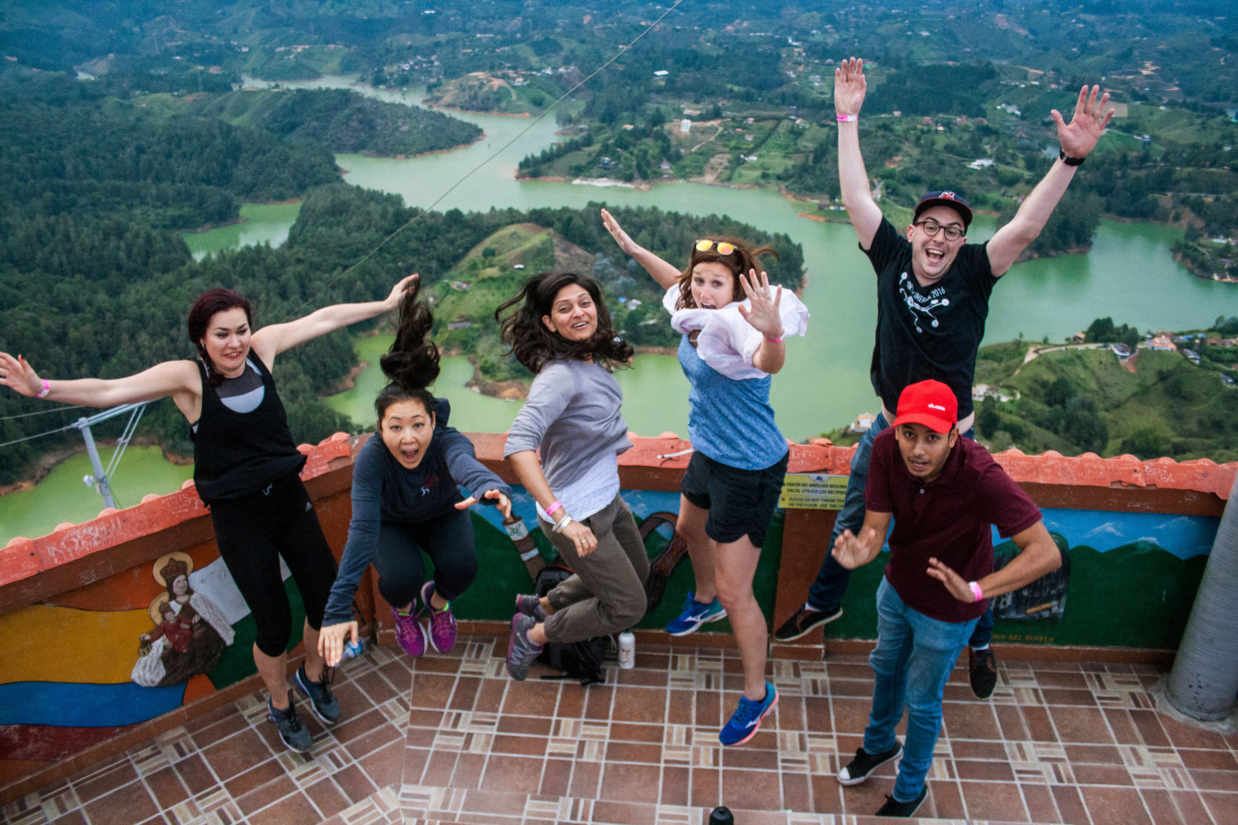 One of the weekend trips outside of Medellin to Guatape!