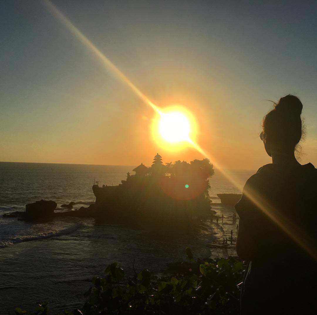 Noha at Tanah Lot Temple in Bali in May 2017