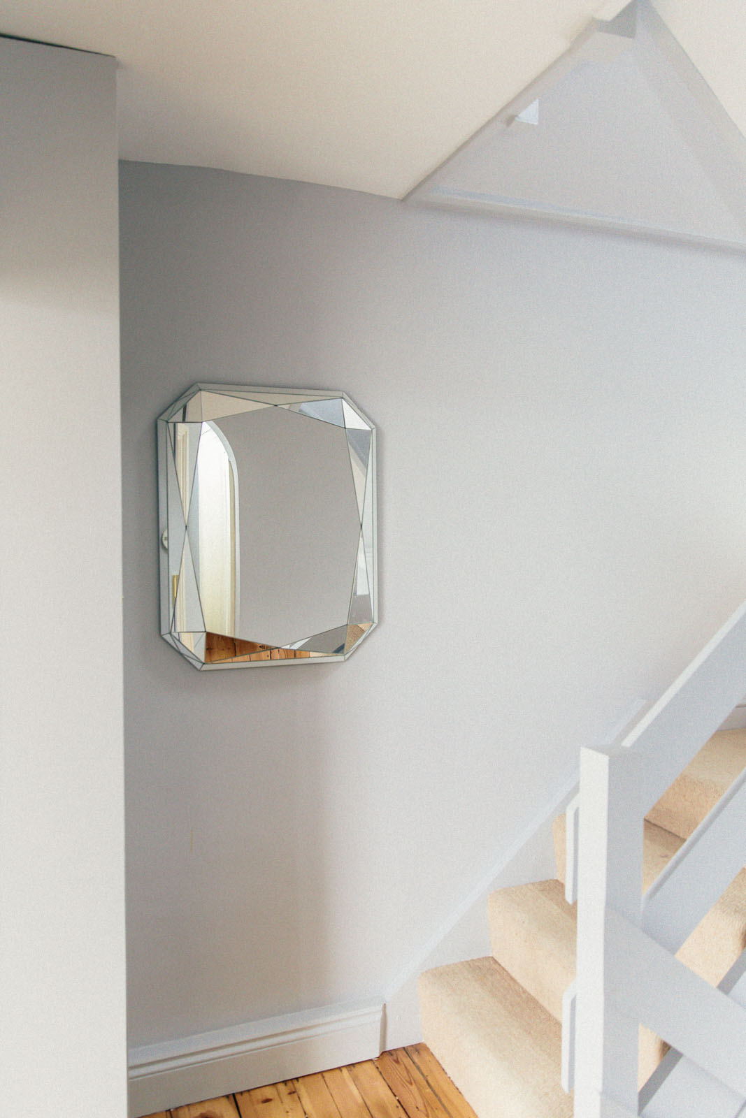 Designer staircase with mirror
