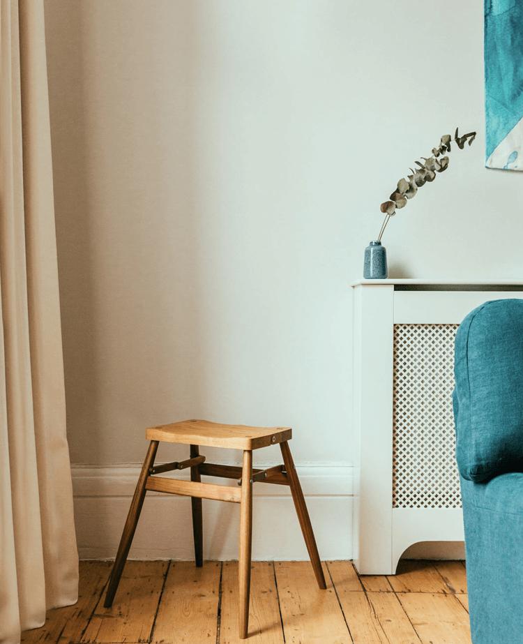 Designer stool in living room