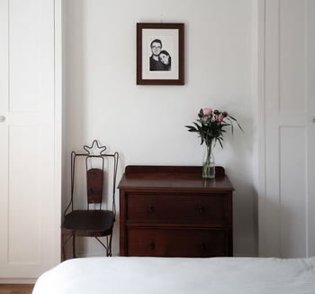 Stylish bedroom in brixton