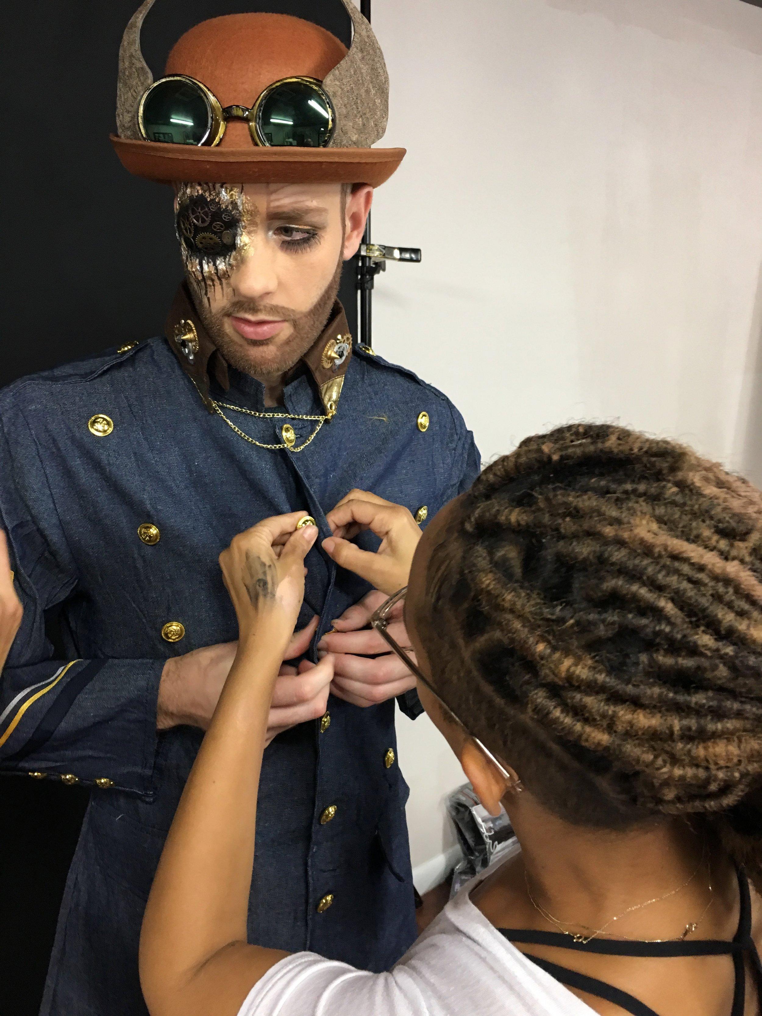 From Makeup Artist to Wardrobe Stylist- haha!