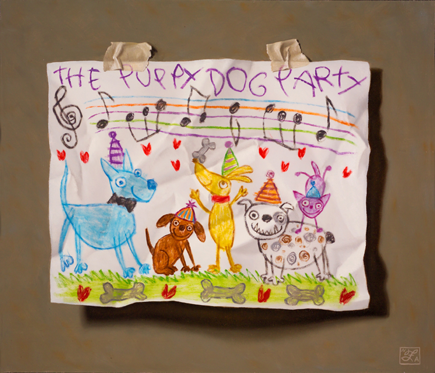 Young Artist Shows Promise: Puppy Dog Party