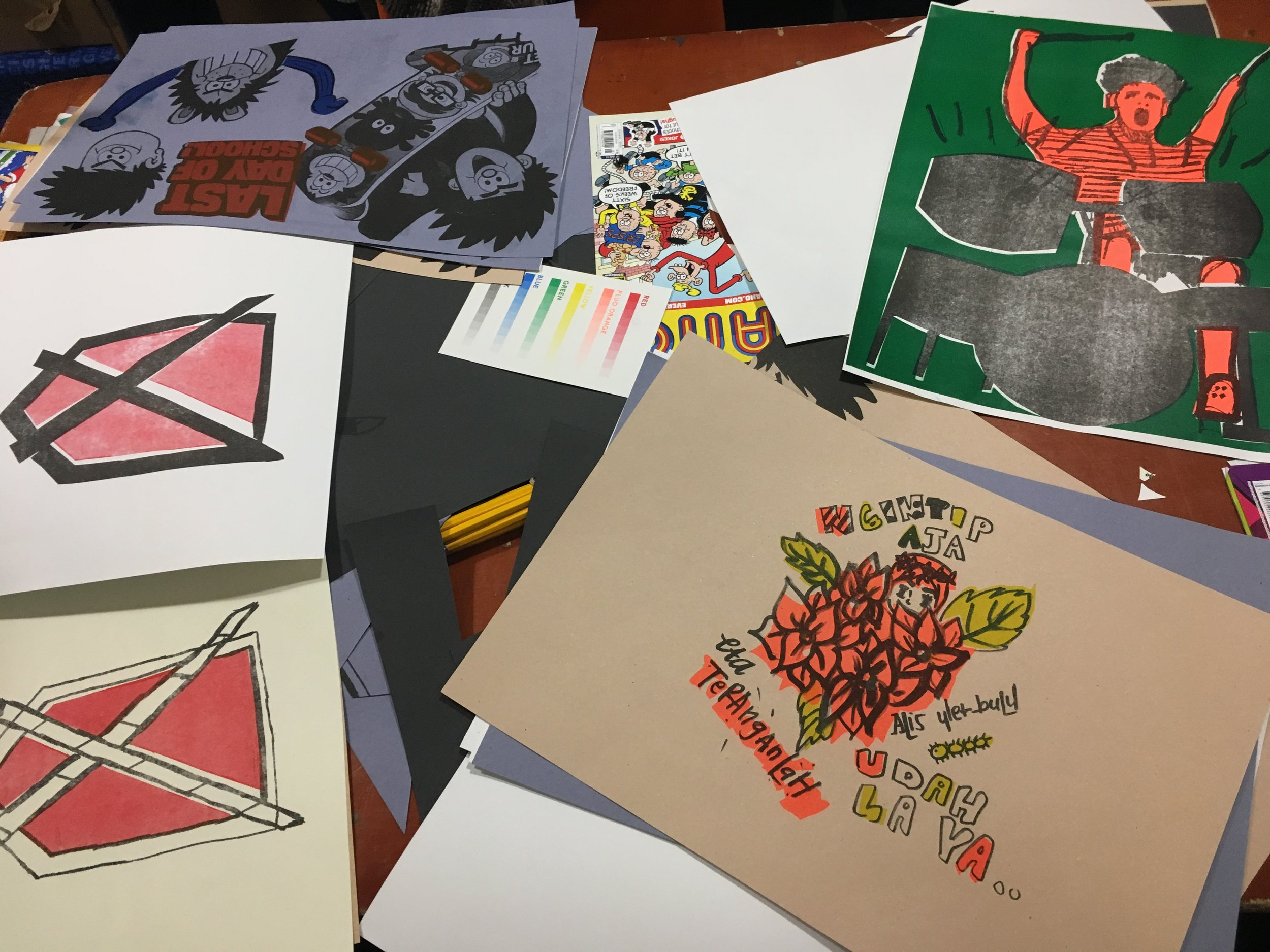 Riso print workshops at Out of the Blueprint