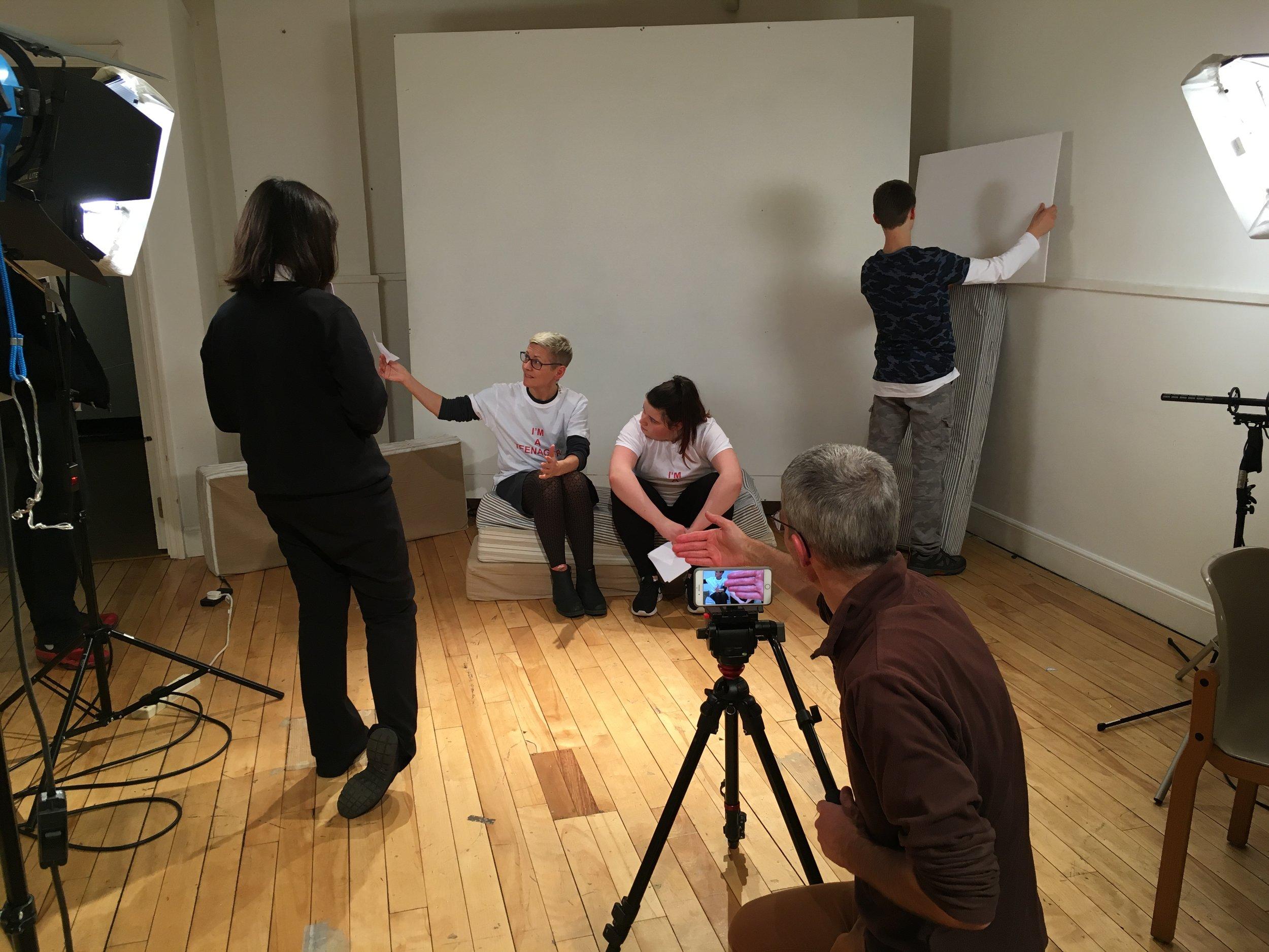 Teenage Tutorials shoot with Christine