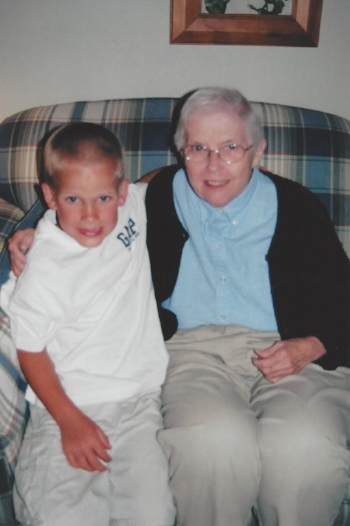 Nana and me. Thanks to my mom for this photo!