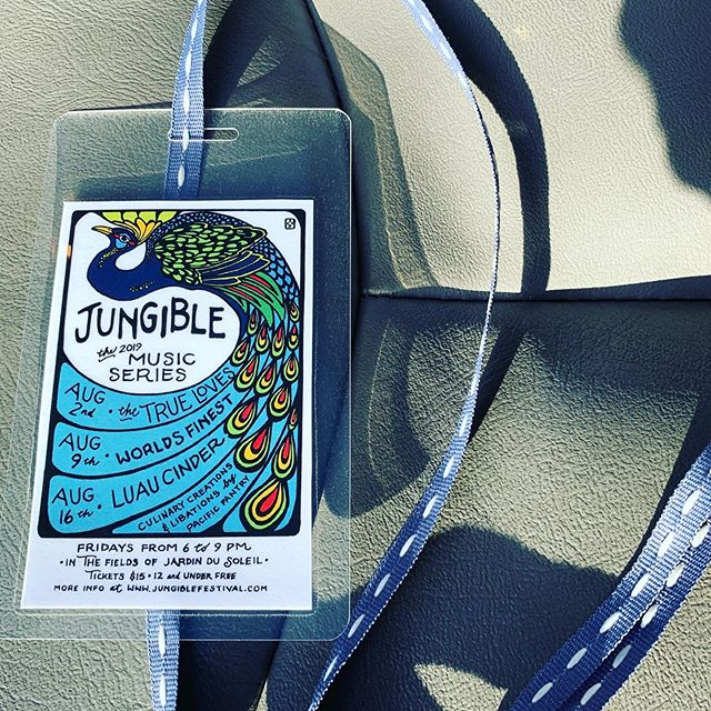 And so it begins, get yourself down to Jungible Music Series @jardindusoleil right now! One of the best bands you've ever heard @truelovesband is going to perform tonight!