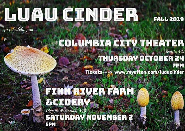 New Fall Gigs Alert!! Two of our favorite venues, get tickets online Http://www.myafton.com/luaucinder  Or hit me up, I have a few. #seattlemusicscene #porttownsend #seattle #livemusic #luaucinder #olympicpeninsula #psychedelic #funk #aftonshows