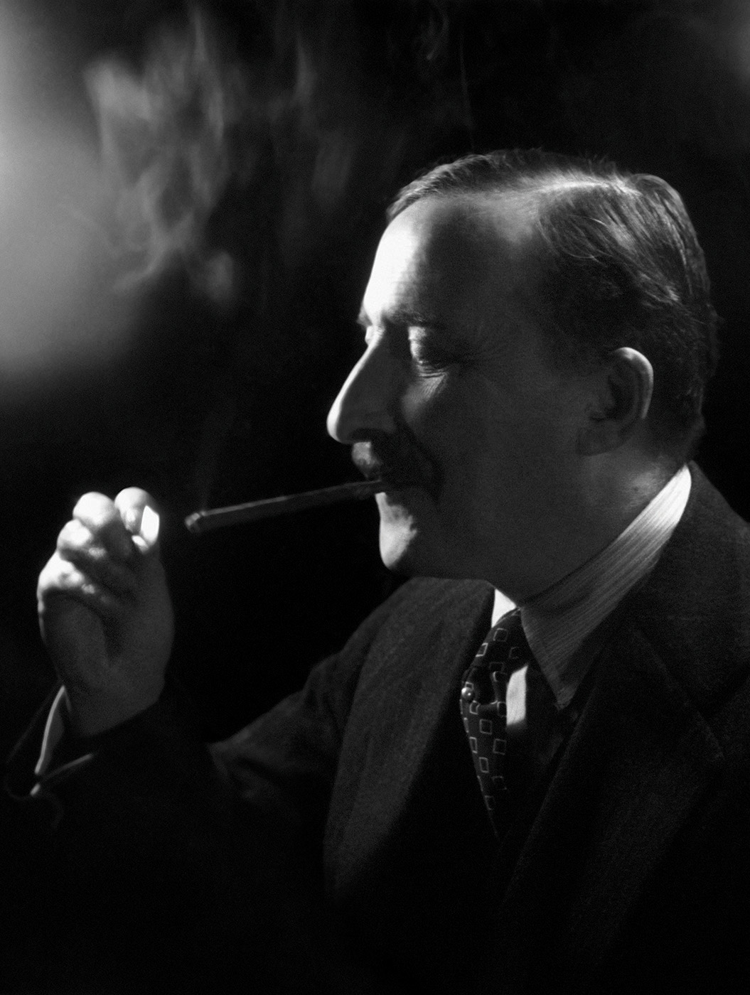 Stefan Zweig, novelist, London, 1938