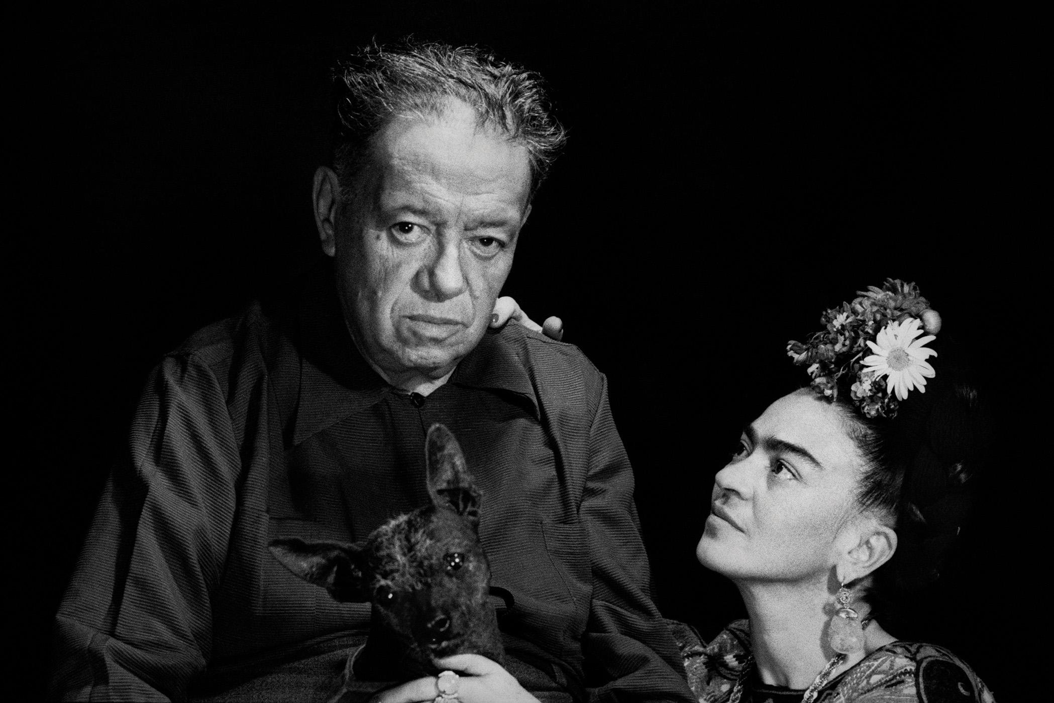 Diego Rivera, Frida Kahlo, & Frida's Chihuahua, Mexico, 1952
