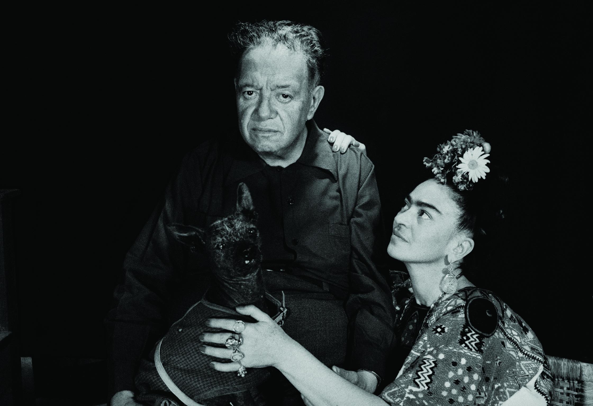 Diego Rivera and Frida Kahlo,Mexico,1952