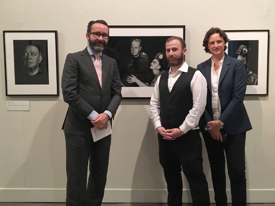 Jacob Loewentheil  with  Diego Gómez Pickering ,  Consul General of Mexico,  and  Caterina Toscano Gómez-Robledo ,  Executive Director of Mexican Cultural Institute of New York