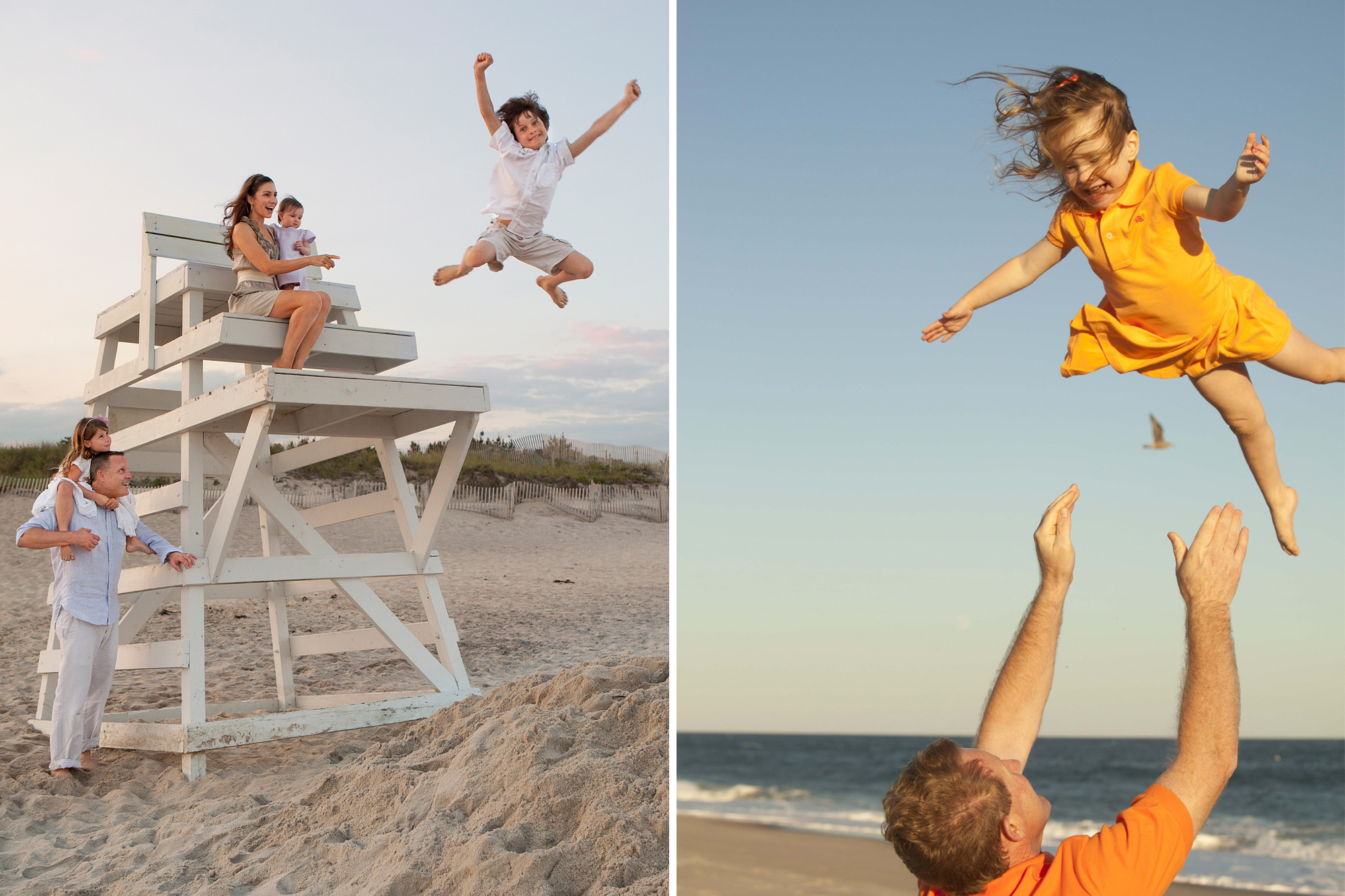Families Romp on the Beaches of The Hamptons