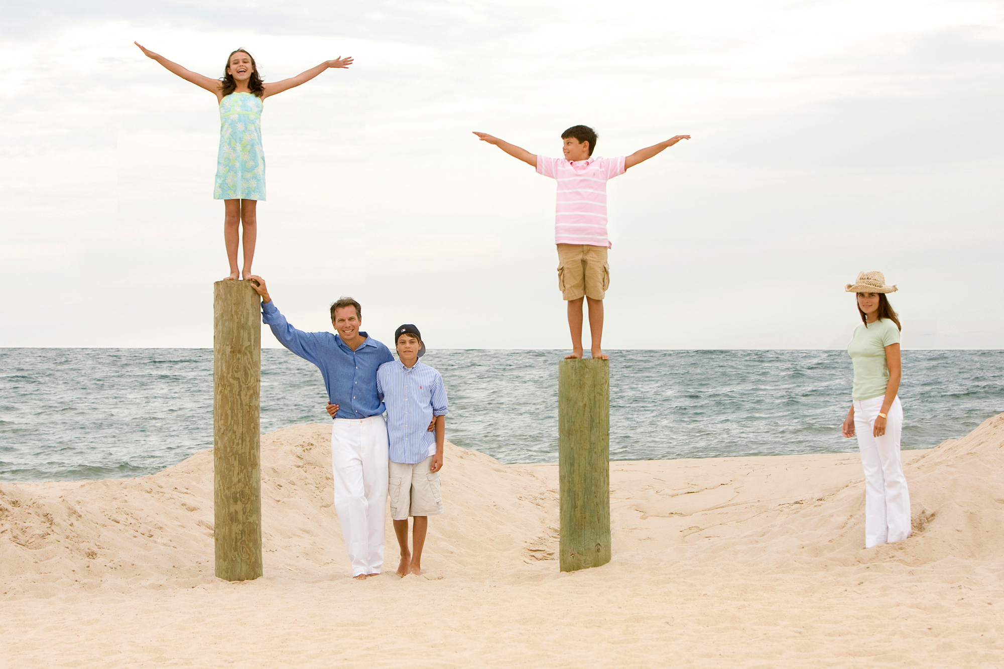The McDaniels Family at the Beach