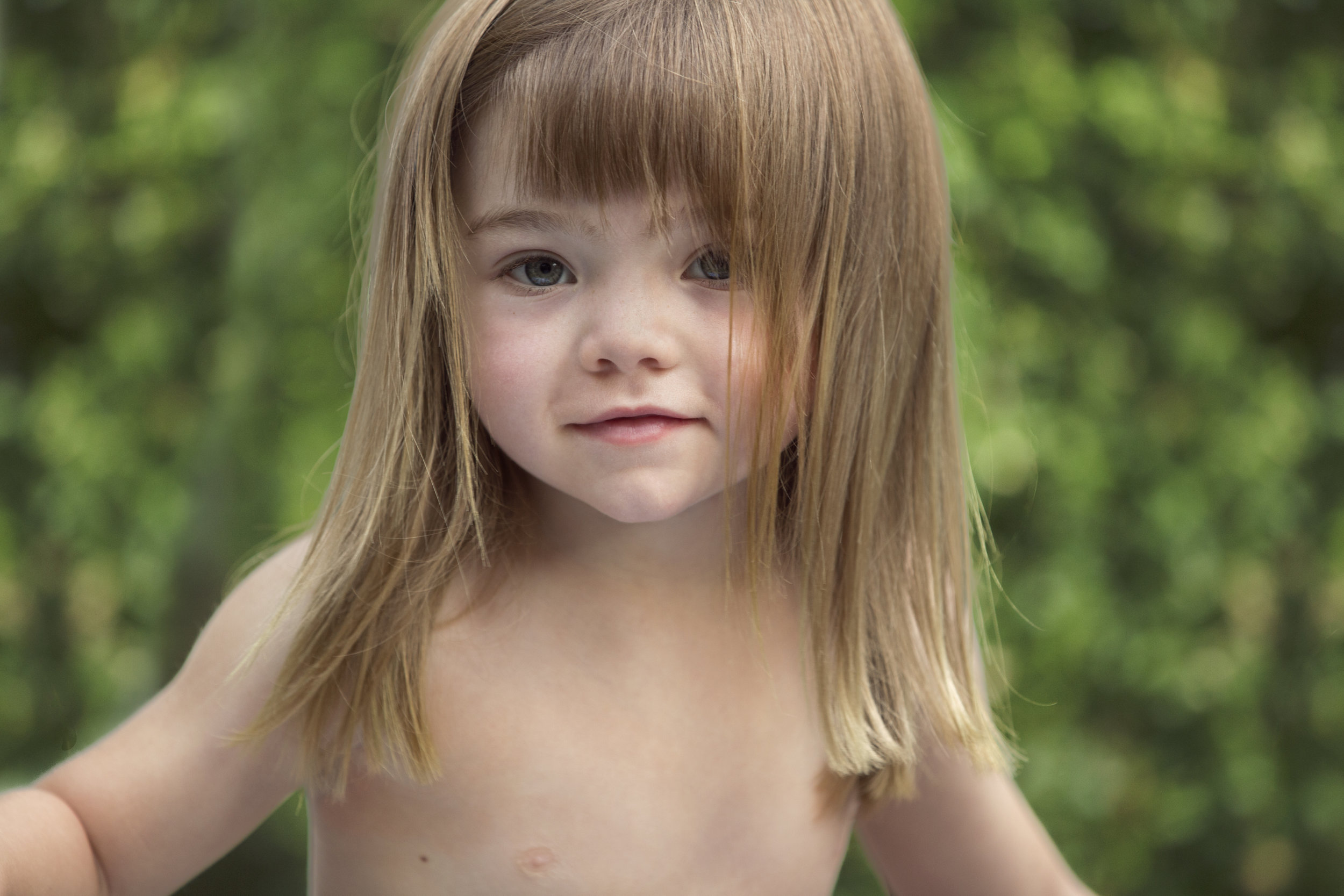 This cute little girl delivers a soulful look into the lens. Photo by Lucille Khornak.